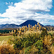 Tongariro National Park New Zealand Art Print