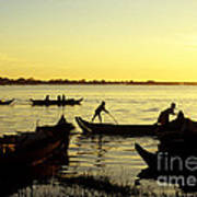Tonle Sap Sunrise 05 Art Print