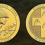 Tonto Apache Tribe Code Talkers Bronze Medal Art Art Print