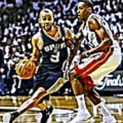 Tony Parker Painting Art Print