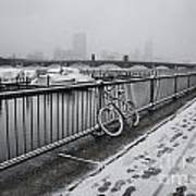 Too Cold To Cycle Art Print