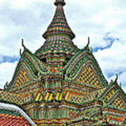 Top Of Temple In Wat Po In Bangkok-thailand Art Print