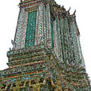Top Of Temple Of The Dawn-wat Arun In Bangkok-thailand Art Print