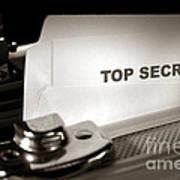 Top Secret Document In Armored Briefcase Art Print