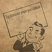 Top Ten Reasons People Procrastinate Pun Humor Motivational Poster Art Print