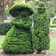 Topiary Couple Art Print