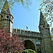 Topkapi Palace Wall And Gate In Istanbul-turkey Art Print