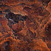 Topography Of Rust Art Print