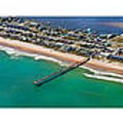 Topsail Island Aerial Panels Art Print