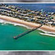Topsail Island Aerial Panels II Art Print