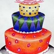 Topsy Turvy Cake Art Print