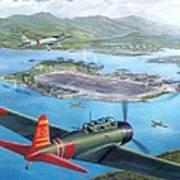 Tora Tora Tora The Attack On Pearl Harbor Begins Art Print by Stu Shepherd