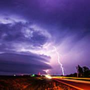 Tornado Warning In Northern Buffalo County Art Print