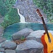 Toro Negro Guitar Art Print