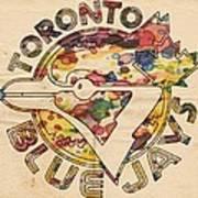 Toronto Blue Jays Vintage Art Art Print