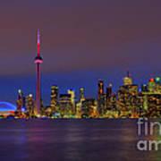 Toronto By Night... Art Print