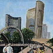 Toronto City Hall Art Print