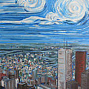 Toronto Cn Tower Veiw North East Art Print