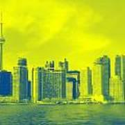 Toronto Downtown View Art Print