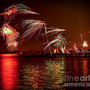 Toronto Fireworks Art Print by Elena Elisseeva