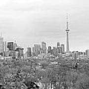 Toronto In Black And White Art Print
