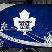 Toronto Maple Leafs Christmas Art Print
