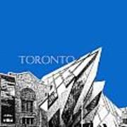 Toronto Skyline Royal Ontario Museum - Blue Art Print