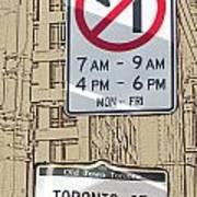Toronto Street Sign Art Print