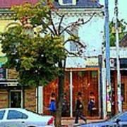Toronto Stroll Past Fashion Stores Downtown Early Autumn Urban City Scenes Canadian Art C Spandau Art Print