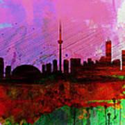 Toronto Watercolor Skyline Art Print