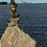 Toronto's Cn Tower Sculpted From Natural Stones Art Print