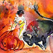 Bullfighting The Reds Art Print