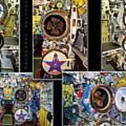Torpedo Tubes Collage Russian Submarine Art Print