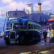 Torpoint Ferry. Art Print
