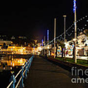 Torquay Victoria Parade At Night Art Print