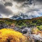 Torres Del Paine Peaks Art Print