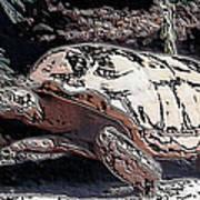 Tortoise Of Stone Art Print