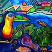 Tortuga Eco Tour Art Print