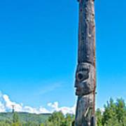 Totem Pole In Gitwangak-bc Art Print
