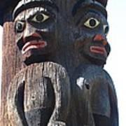 Totem Twins Art Print
