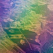 Touch Of Rainbow. Rainbow Earth Art Print by Jenny Rainbow