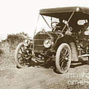 Touring Car On The Road California 1906 Art Print