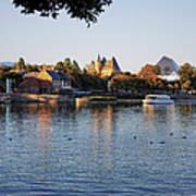 Touring On The World Showcase Lagoon Walt Disney World Art Print