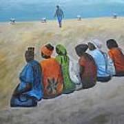 tourists in Jaffa  Art Print