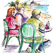 Tourists On The Costa Blanca In Spain Art Print