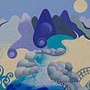 Towards Otaki Forks  Art Print