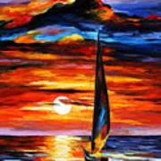 Towards The Sun - Palette Knife Oil Painting On Canvas By Leonid Afremov Art Print