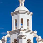 Tower At Mission San Xavier Del Bac Art Print