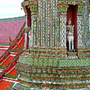 Tower At Temple Of The Dawn-wat Arun In Bangkok-thailand Art Print