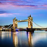 Tower Bridge Located In London Art Print